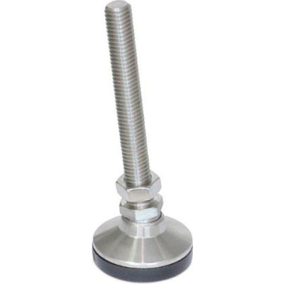 """J.W. Winco 6T4SNT SNSM-1.25-3/8X16-4-NI """"Snap-Lock"""" Non-Skid Leveling Mounts SS, Threaded Stud"""
