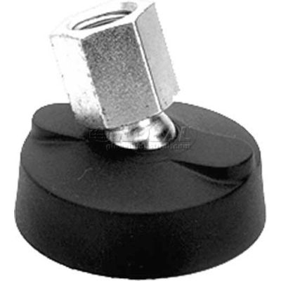 "Leveling Mount w/o Bolt Holes, 3/8-16"" Socket, 1.97"" Base Dia, 1.75""H, 4000 Lbs. Load Cap - USA"