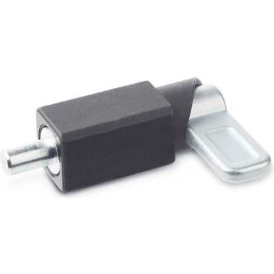 J.W. Winco Spring Latch Square Weldable Black 16.0x55.0N Pressure Thread 14x14mm Pin