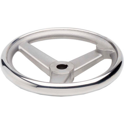 "JW Winco - 950.6-200-K3/4-A - SS Spoked Handwheel w/o Handle - 7.87"" D x .750"" Bore & Keyway"