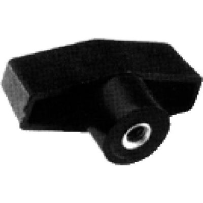 J.W. Winco TH Polypropylene W/Brass Insert T-Bar Knob Tapped mm Diameter 63.5mm Length 1/4-20