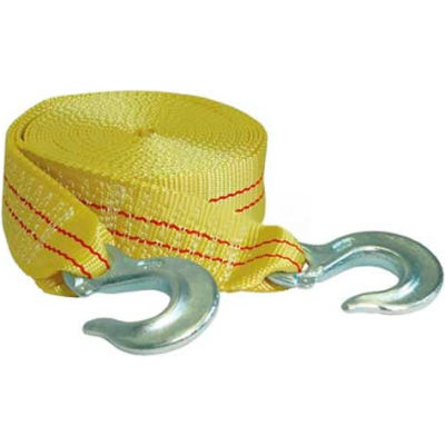 """K-Tool 73803 10,000 Lb. Capacity Tow Strap 25' x 1-3/4"""" with Forged Hooks"""
