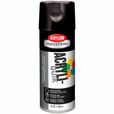 Krylon (5-Ball) Interior-Exterior Paint Gloss Black - K01601A07 - Pkg Qty 6