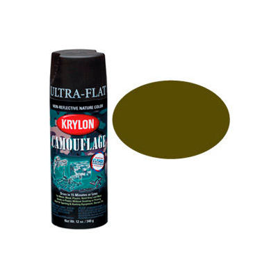 Krylon Camouflage With Fusion For Plastic Paint Olive Drab - K04293007 - Pkg Qty 6