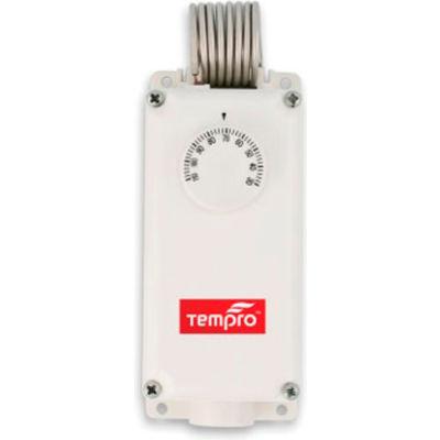Tempro Industrial Coiled Bulb Line Voltage Temperature Controller TP508, Heat/Cool, SPDT, Nema 4X