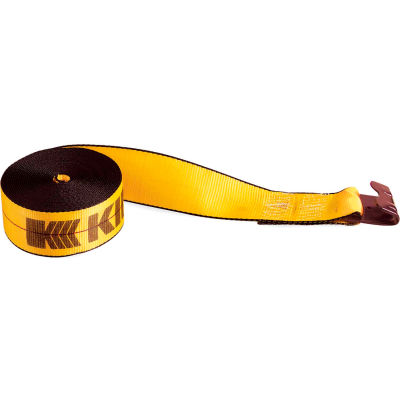 "Kinedyne Cargo Control Winch Strap 422721 with Flat Hook - 27' x 4"" Gold"