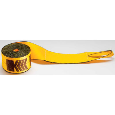 """Kinedyne Winch Strap 423030 with Loop - 30' x 4"""" Gold"""
