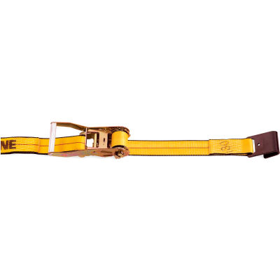 "Kinedyne Ratchet Strap 573020 with Flat Hook - 30' x 2"" Gold"