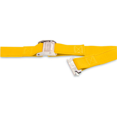 """Kinedyne Cargo Control Cam Logistic Strap 651201 with Spring Loaded Fitting - 12' x 2"""" Gold"""
