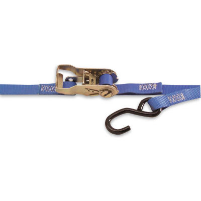 """Kinedyne Cargo Control Ratchet Strap 711587PK with Spring Loaded Fitting - 15' x 1"""" Blue"""