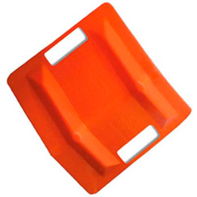 "VeeBoard® Stackable Corner Edge Guard Protector W/Double 4-1/2"" Slots, 11""L x 8""W x 8""H, Orange"