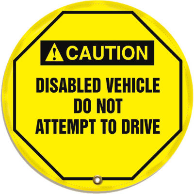 """Accuform KDD739 Stopout® Steering Wheel Message Cover, Vinyl, 24"""" Diameter"""