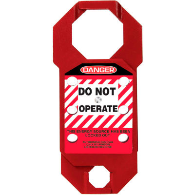 Accuform KDH731 Stopout® Double-Cross Aluma-Tag™ Hasp, Danger Label, Aluminum