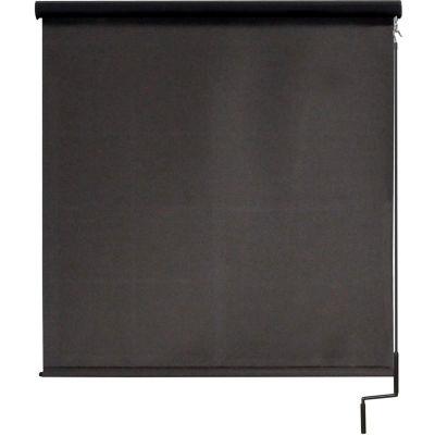 Keystone Fabrics Regal Cordless Outdoor Sun Shade W/ Protective Valance - 7' W x 8' L - Mahogany