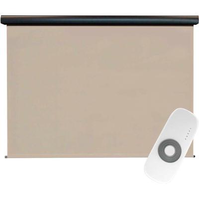 Keystone Fabrics Regal Rechargeable Motorized Outdoor Sun Shade W/Protective Valance - 8 X 8 - Maple