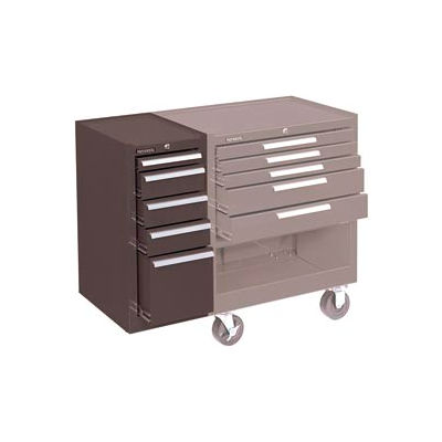 """Kennedy® 185XB K1800 Series 13-5/8""""W X 18""""D X 29""""H 5 Drawer Brown Hang-On Side Cabinet"""