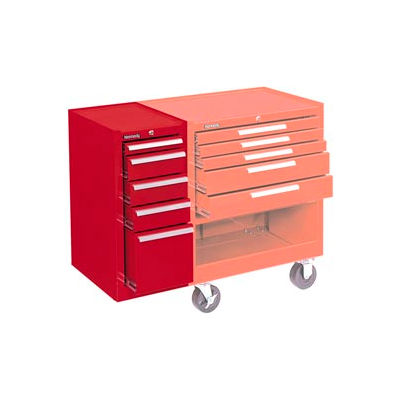 """Kennedy® 205XR K2000 Series 13-5/8""""W X 20""""D X 29""""H 5 Drawer Red Hang-On Side Cabinet"""
