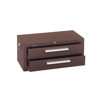 """Kennedy® 2602B Signature Series 26-5/8""""W X 12""""D X 11-3/4""""H 2 Drawer Brown Add-On Base"""