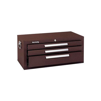 """Kennedy® 2603B Signature Series 26-5/8""""W X 12""""D X 11-3/4""""H 3 Drawer Brown Add-On Base"""