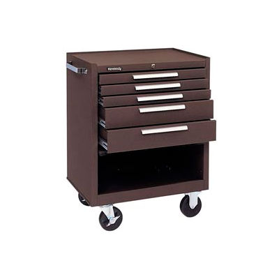 "Kennedy® 275XB K1800 Series 27""W X 18""D X 35""H 5 Drawer Brown Roller Cabinet"