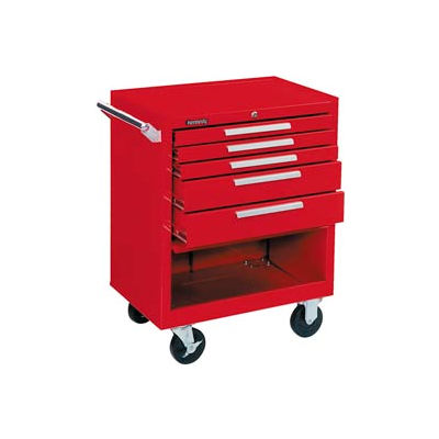 """Kennedy® 275XR K1800 Series 27""""W X 18""""D X 35""""H 5 Drawer Red Roller Cabinet"""