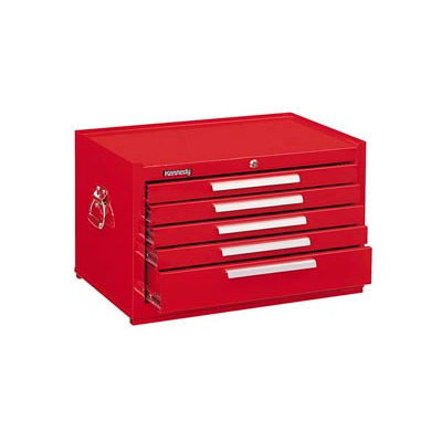 "Kennedy® 285XR Signature Series 27""W X 18""D X 16-5/8""H 5 Drawer Red Mechanics Chest"