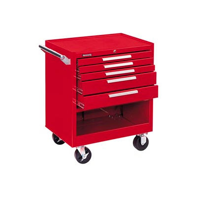 "Kennedy® 295XR K2000 Series 29""W X 20""D X 35""H 5 Drawer Red Roller Cabinet"