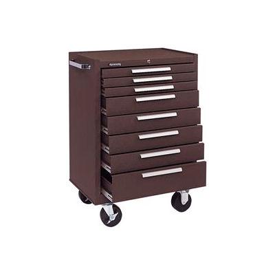 "Kennedy® 378XB K1800 Series 27""W X 18""D X 39""H 8 Drawer Brown Roller Cabinet"