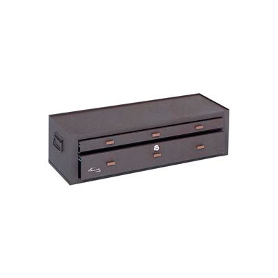 """Kennedy® MC28B Signature Series 28-1/8""""W X 9-5/8""""D X 7-7/8""""H 2 Drawer Brown Machinists Chest"""