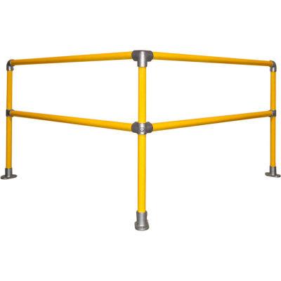 Kee Safety KWIK SC Galvanized Steel Kwik Kit Railing System, 6' x 6' Corner Kit