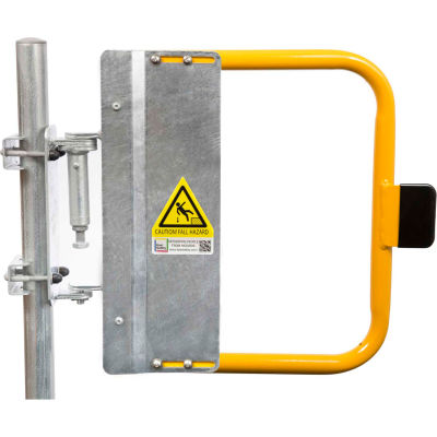 """Kee Safety SGNA024PC Self-Closing Safety Gate, 22.5"""" - 26"""" Length, Safety Yellow"""