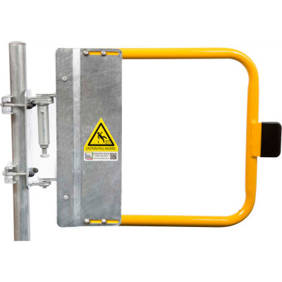 """Kee Safety SGNA027PC Self-Closing Safety Gate, 25.5"""" - 29"""" Length, Safety Yellow"""
