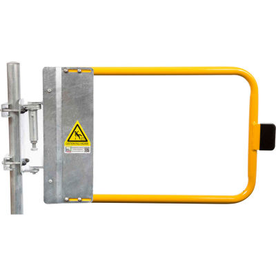 """Kee Safety SGNA036PC Self-Closing Safety Gate, 34.5"""" - 38"""" Length, Safety Yellow"""