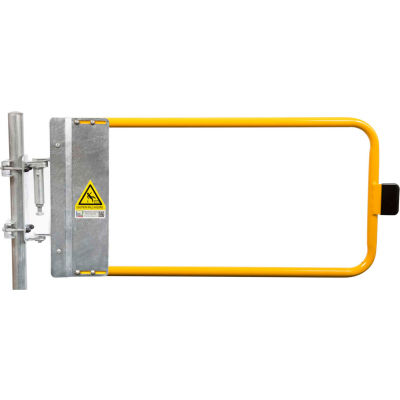 """Kee Safety SGNA048PC Self-Closing Safety Gate, 46.5"""" - 50"""" Length, Safety Yellow"""