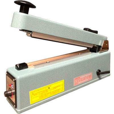 "Sealer Sales KF-200HC 8"" Hand Sealer w/ 2.7mm Seal Width w/ Sliding Cutter"