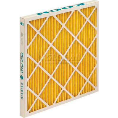 "Koch™ XL11 High Capacity Pleated Air Filter, MERV 11, Extended Surface, 16""Wx20""Hx2""D - Pkg Qty 12"