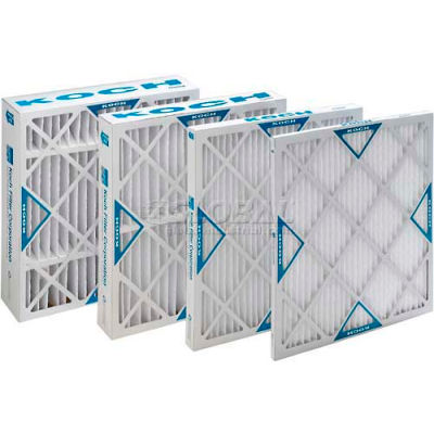 "Koch™ XL8 High Capacity Pleated Air Filter, MERV 8, Extended Surface, 16""Wx25""Hx1""D - Pkg Qty 12"
