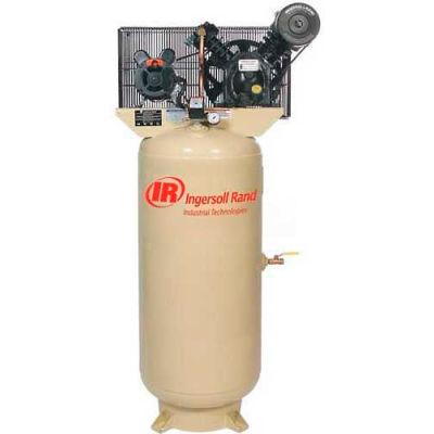 Ingersoll Rand 2340L5-V, 5 HP, Two-Stage Compressor, 60 Gal, Vert., 175 PSI, 14 CFM, 3-Phase 200V