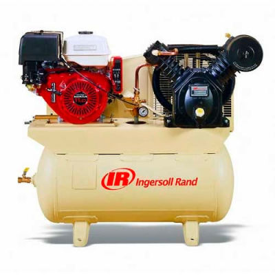 Ingersoll Rand 2475F13GH, 13 HP, Stationary Gas Comp, 30 Gal, 175 PSI, 25 CFM, Honda,Electric/Recoil