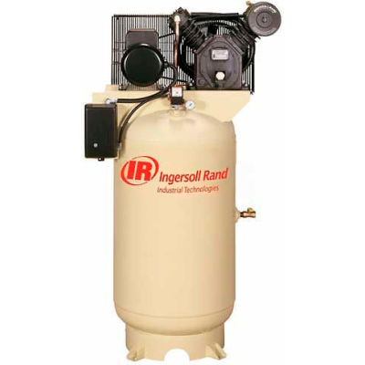 Ingersoll Rand 2475N7.5-P, 7.5 HP, Two-Stage Compressor, 80 Gal, Vert., 175 PSI, 24CFM, 3-Phase 460V