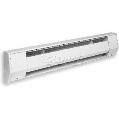 "King Electric Baseboard Heater 8CB2415BW, 1500W, 240V, 96""L, Ceramic Element, White"