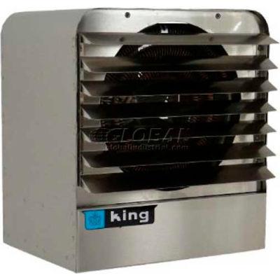 King Unit Heater KBS4820-3MP-T-B2, 20KW, 480V, 3 Phase, WThermostat & Bracket, Stainless Steel