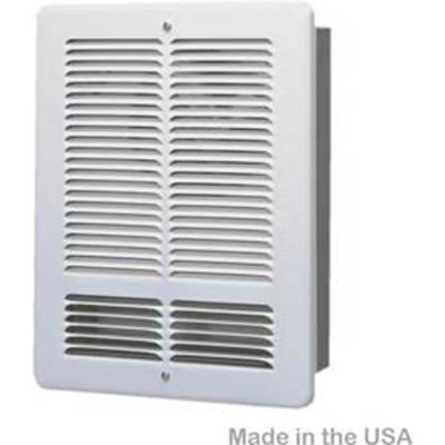 King Pic-A-Watt® Wall Heater Interior And Grill PAW1215I-W, 1500W Max, 120V, Compact, White