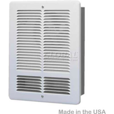 King Forced Air Wall Heater W1210-W, 1000W, 120V, White