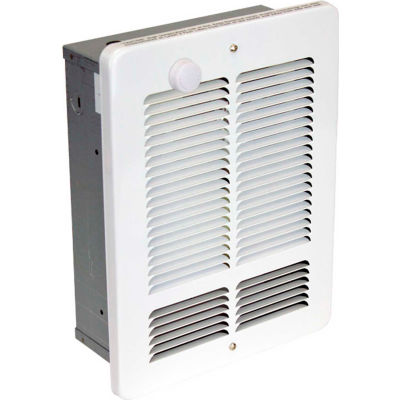 King Forced Air Wall Heater With Built-In Single Pole Thermostat W2415-T-W, 500W, 240V,WHT