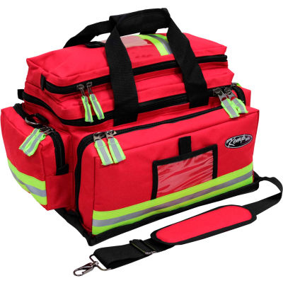 Kemp Large Professional Trauma Bag, Red, 10-104-RED