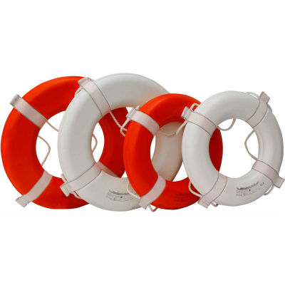 """Kemp 20"""" Ring Buoy, White USCG Approved, 10-206-WHI"""