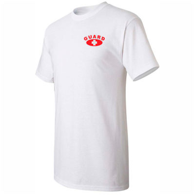 Kemp Lifeguard Shirt 100% Cotton Heart Size Chest & Full Back Guard Logo, Large, 18-001-1-LRG