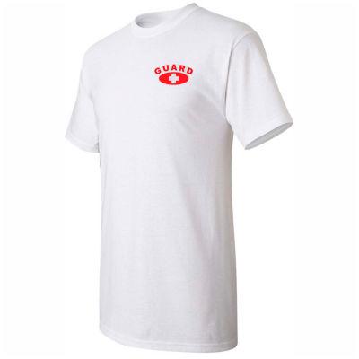 Kemp Lifeguard Shirt 100% Cotton Heart Size Chest & Full Back Guard Logo, Small, 18-001-1-SML