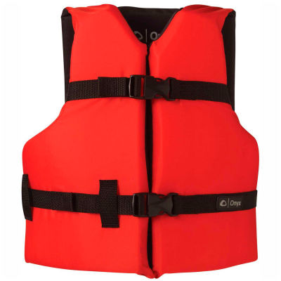 Kemp Youth Universal Life Vest, Red & Black, 20-002-YOUTH-RED